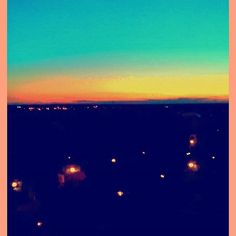 Edited photo of a #sunset view over Fred Roche gardens. #sunset #urban #landscape #miltonkeynes