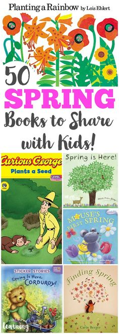 Spring is a wonderful time of year for sharing stories! Read some of these spring books for kids with your little ones! #reading #booksforkids #kidsbooks