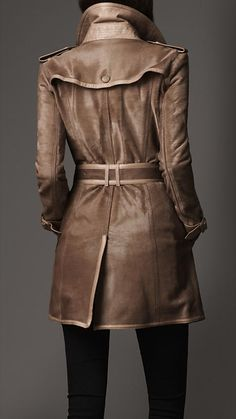 Short Calf Hair Trench Coat | Burberry