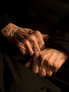 Gnarled, sinewy and wrinkled with age, Louise Bourgeois's hands