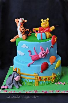 Winnie the Pooh birthday cake - Cake by Savenko Sugar Art