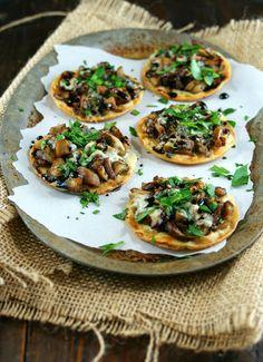 Authentic Suburban Gourmet: Mushroom Pizzettas with Reduced Balsamic ...