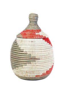 African baskets, Red White Silver handmade Senegal basket, Natural fiber basket,Woven gift storage basket,Multicolor basket,Home decor by NaturalandOrganic (37.95 USD) http://ift.tt/1N99dAu