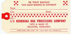 vintage shipping tag printable from KnickofTime.net