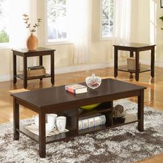 3 piece living room table set.
