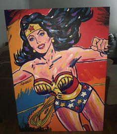Wonder Woman 56x41 by John Stango - Acrylic on Canvas