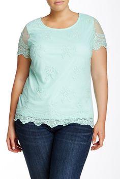 Plus Size Lace Blouse