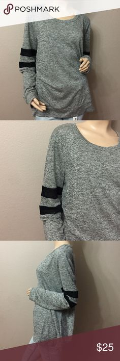 NWOT Gray Loose Fit Long Sleeve Top Comfy loose fit top, perfect with skinny black pants or jeans. 78% rayon 22% Polyester Juniper Ln Tops