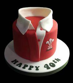 Welsh Rugby shirt cake WRU cake
