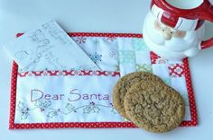 Dear Santa Mug Rug  pattern on Craftsy.com.  What a cute idea!!