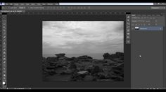 How to make a photo black and white in 30 seconds using Photoshop (step ...