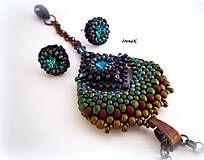 Sady šperkov - Páví set (mat) - 7517907_