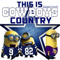 Minions and cowboys Dallas Cowboys Football, Dallas Cowboys Memes, Dallas Cowboys Pictures, Cowboy Pictures, Cowboys 4, Nfl Football Teams, Best Football Team, Football Season, Cowboy Love