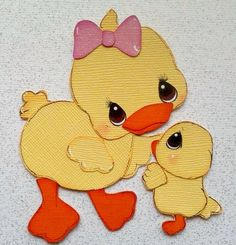 MADE TO ORDER MOM AND BABY DUCK Easter  PAPER PIECING BY MY TEAR BEARS KIRA
