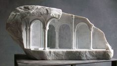 Miniature Architecture Carved in Stone by Matthew Simmonds 7 Arresting Miniature Architectural Details Carved in Stone and Marble