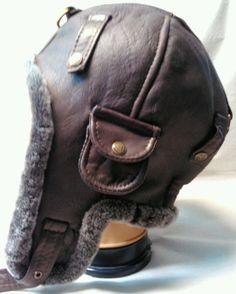 947c5c6e9cb WWII Vintage style Handmade Genuine Leather Pilot