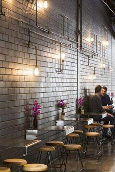 블랙컬러 인더스트리얼 빈티지 카페인테리어, 커피숍인테리어 - Code Black Coffee / Zwei Interiors Architecture : 네이버 블로그