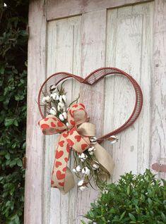 Valentine Wreath, Valentine Wreath, Metal Heart Wreath, valentine wreathes, valentines wreathes, Double door Valentine Wreath, Valentine Door Hanger, Heart Wreath, Heart Swag, Valentine Swag, Valentine front door wreath, valentine front door hanger, valentine back door wreath More Valentine