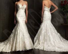 Yes please!!! Lace Wedding Dresses Mermaid Bridal Gown Sweetheart by Dressesshop