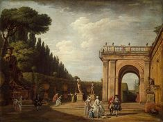 Claude Vernet, View of the Villa Ludovisi Park in Rome
