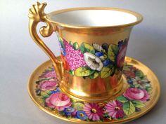 ✿ڿڰۣ(̆̃̃❤Aussiegirl #China #Charm  Old Paris Delvaux Rue Royale Cup and Saucer 19th century