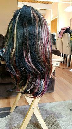 New multi color wig