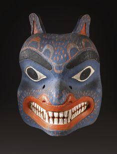 Northwest Coast Polychrome Wood Mask, probably Bella Coola | lot | Sotheby's