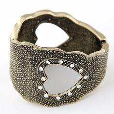 Vintage Hollow Hearts Bracelet   Indulgence Designs