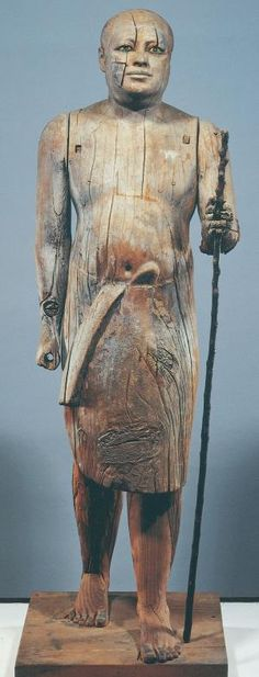 Oldest Known Life-size Statue Of Ancient Egypt -- 2513-2506 BCE -- 5th Dynasty, Reign of Userkaf -- Carved sycamore wood -- Discovered at Sakkara in the tomb of Ka-aper -- Egyptian Museum, Cairo by jolene