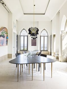 OBSESSED with this gorgeous room and table in this Historic Home in Beirut With a Modern Feel via @MyDomaine