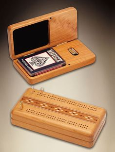 Mike Fisher - Heartwood Creations - Hinged Cribbage Board   SattvaGallery.com