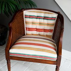 How-To: French Tuft a Cane Chair...From the Flea Market | Apartment Therapy