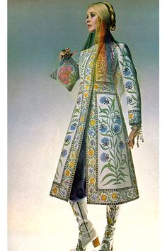 Vintage Fashion: 1970's, Maudie James by Barry Lategan. Bohemian Embroidered Coat.