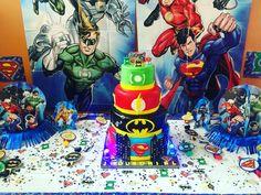 Bizcocho de los súper héroes Súperman Batman Flash Linterna verde