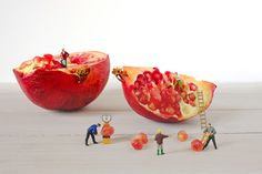 to disassemble pomegranate | Flickr - Photo Sharing!