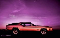 under a baby moon 1971 Mustang Mach 1, Mustang Fastback, Mustang Cars, Ford Mustang, Classic Mustang, Pony Car, Hot Rides, Car Ford, American Muscle Cars