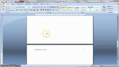 APA Formatting 6th Edition in MS Word