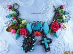 Catholic-Virgin-Mary-OL-of-Guadalupe-Religious-Medals-Charm-Bracelet #catholic #virginmary #ourladyofguadalupe #pendant #cross http://stores.ebay.com/LETYS-CREATIONS