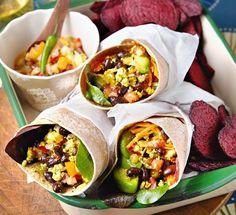 Breakfast burritos from Vegan Slow Cooking for 2