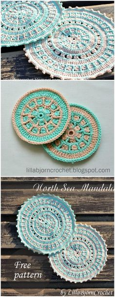 I have presented a big list of 20 free crochet mandala patterns for your inspiration. Because it does not matter what mandalas mean to you,Crochet North Sea Mandala