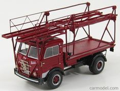 GILA MODELLI gi178-BS16 Scala 1/43  BIANCHI VISCONTEO TRUCK BISARCA CAR TRANSPORTER CAMORADI RED