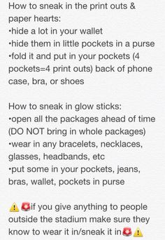 ADVICE ON HOW TO SNEAK IN THE FAN PROJECT SUPPLIES! ((( check the board for the official fan project info )))