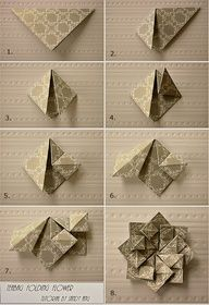Origami Tea Bag Folding Flower Folding Instructions