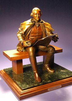 """George Washington - Bronze - Edition of 100 - 22"""" x 16"""" x 14"""". Also available in Bust sizes."""