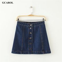 Women New A-Line Denim Skirts Single Breasted Jeans Skirts High Quality Plus Size Fashion Casual Skirt For 4 Season