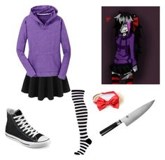 """Nina The Killer"" by little-creepypasta ❤ liked on Polyvore featuring art"