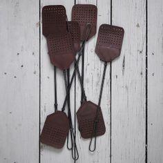 Leather + Steel Fly Swatter | west elm