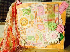Baby Girl Paper Bag Album #Handmade