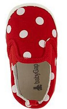 Paddington Bear inspired red polka dot sneakers for babies http://rstyle.me/n/etivnnyg6