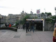 Tower Hill Underground (Tube) station,  just across Trinity Square Gardens from Trinity Square Flat.